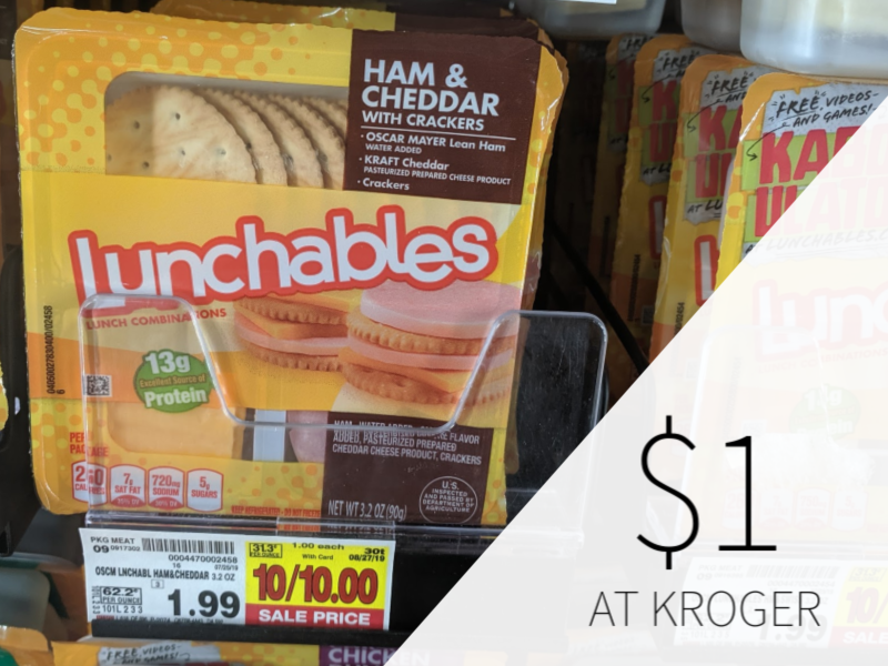 Lunchables Only $1 At Kroger - Half Price!