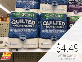 Quilted Northern Bathroom Tissue Only $4.49 At Kroger