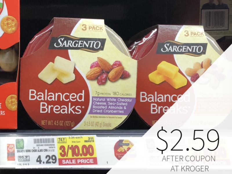 Sargento Balanced Breaks Only $2.59 At Kroger