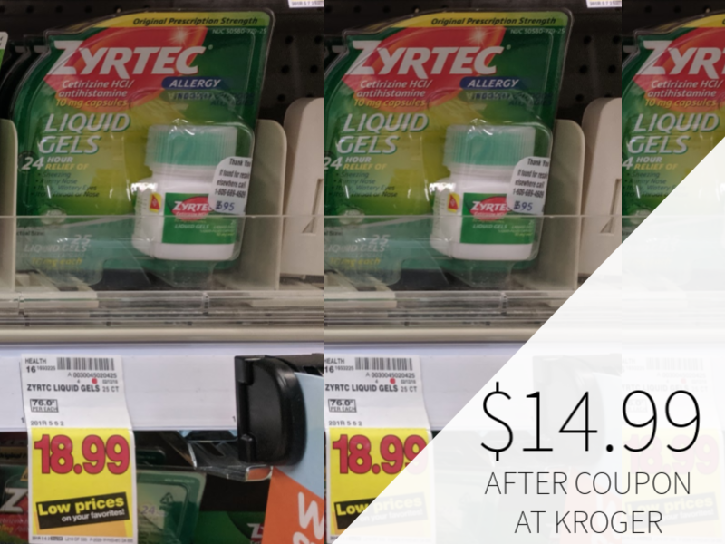 New Zyrtec Coupon - As Low As $14.99 At Kroger