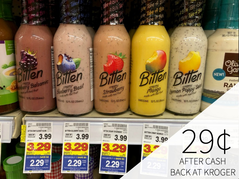 Bitten Dressing Just 29¢ After Cash Back At Kroger