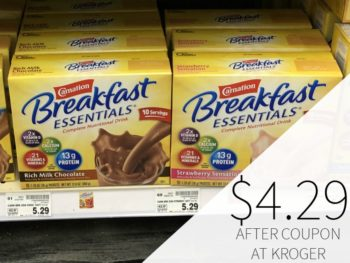 New Carnation Breakfast Essential Coupon - Only $4.29 At Kroger