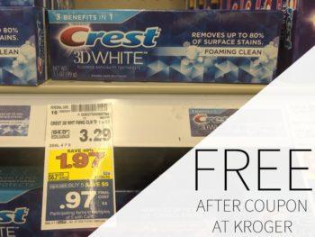 FREE Crest Toothpaste During The Kroger Mega Sale
