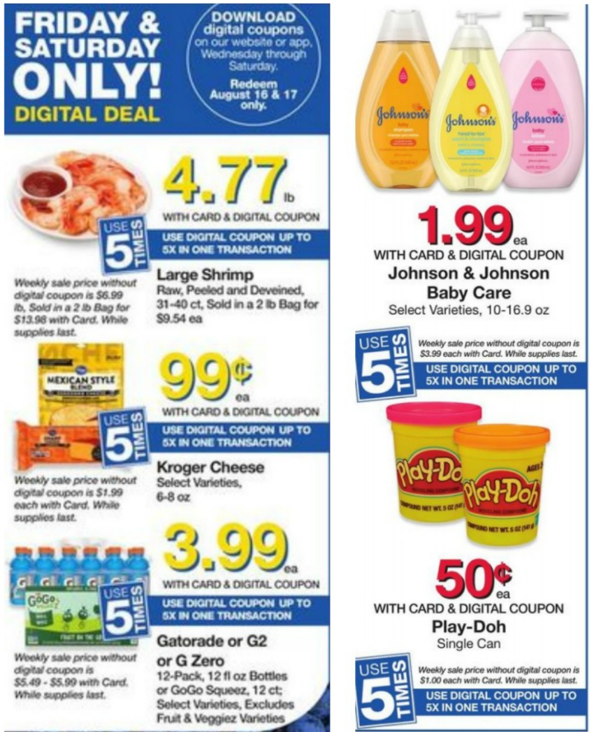 Load Your Coupons For The 2 Days Of Digital Deals (Valid 8/16 & 8/17)