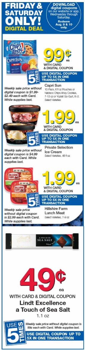 Load Your Coupons For The 2 Days Of Digital Deals (Valid 8/9 & 8/10)
