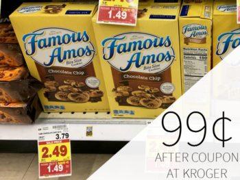 Famous Amos Cookies Just 99¢ Per Box During The Kroger Mega Sale