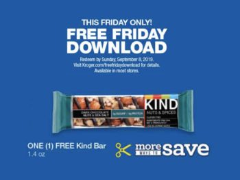 Kroger Free Friday Download - Free Kind Bar 1