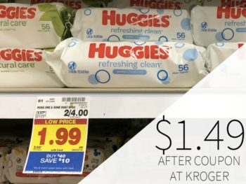 New Huggies Coupons - Wipes Just $1.49 At Kroger