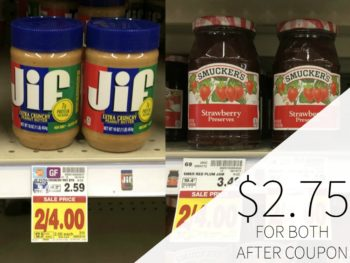 Jif Peanut Butter And Smucker's Fruit Spread Just $2.75 At Kroger