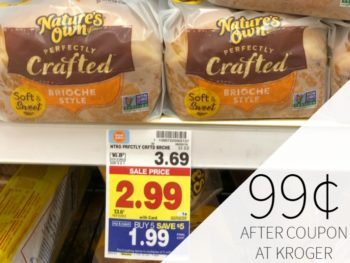 Nature's Own Perfectly Crafted Bread Just 99¢ At Kroger