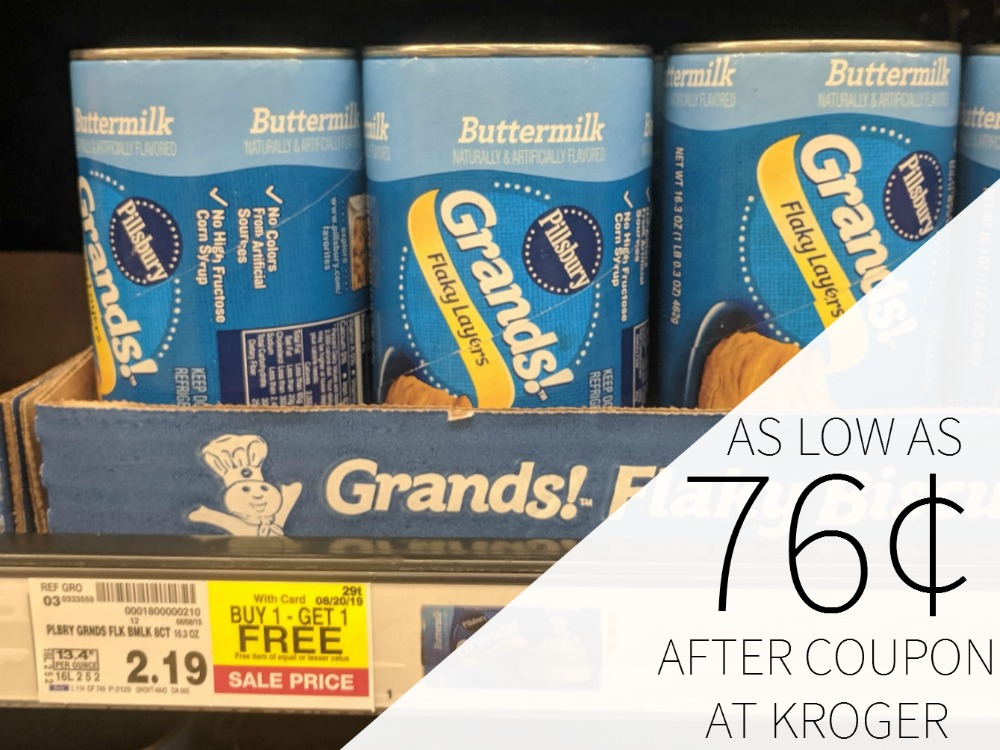 Pillsbury Products As Low As 76¢ At Kroger