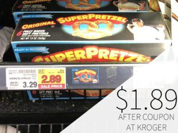 SuperPretzel Soft Baked Pretzels Just $1.89 At Kroger