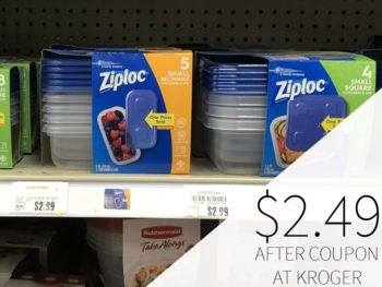 New Ziploc Coupon - Just $2.49
