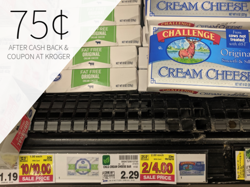 Challenge Cream Cheese Only 75¢ At Kroger