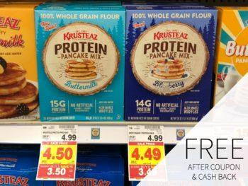 Save On Krusteaz At Kroger - FREE Protein Pancake Mix During The Kroger Mega Sale 2