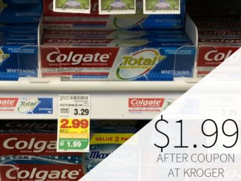 New Colgate Coupons - Toothpaste As Low As $1.99 At Kroger