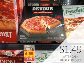 Devour Pizza Just $1.49 After Cash Back At Kroger