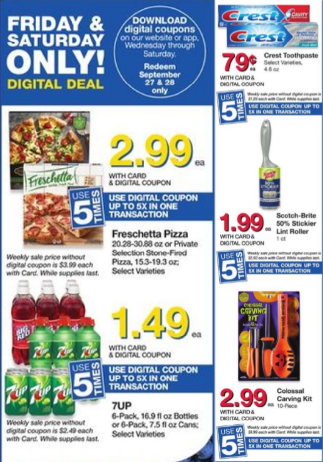 Load Your Coupons For The 2 Days Of Digital Deals (Valid 9/27 & 9/28)