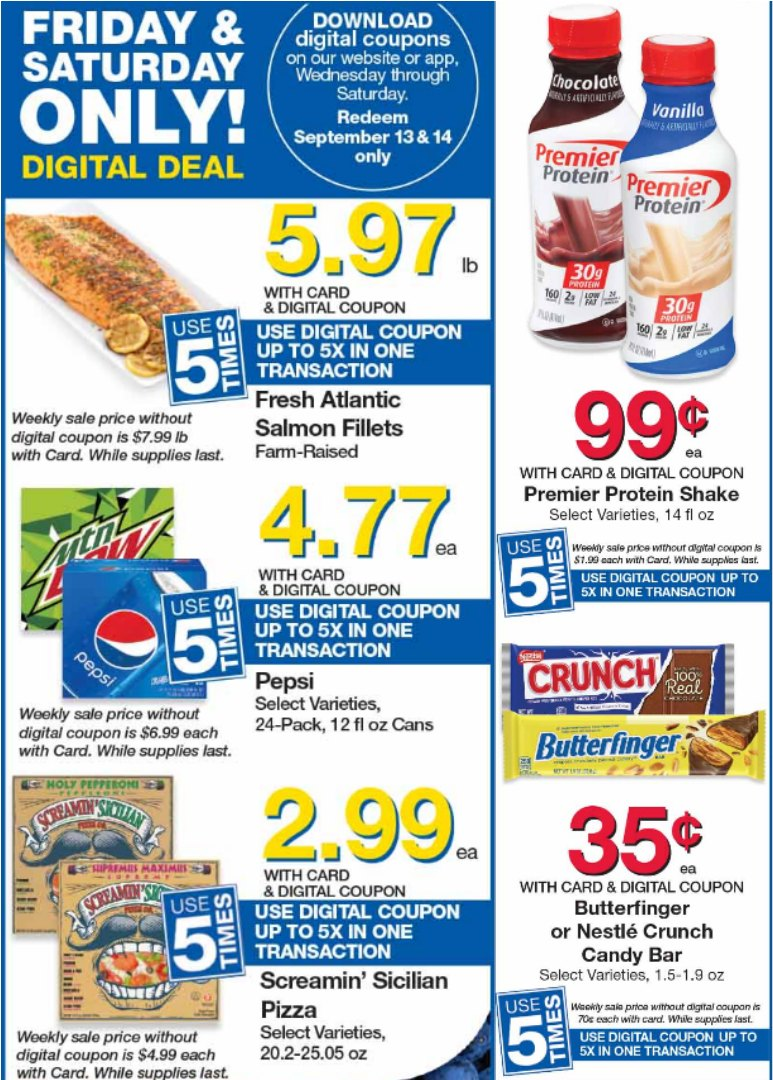 Load Your Coupons For The 2 Days Of Digital Deals (Valid 9/13 & 9/14)