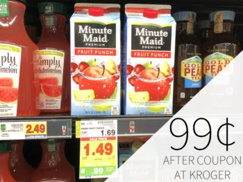 Minute Maid Fruit Drink or Ades Just 99¢ At Kroger