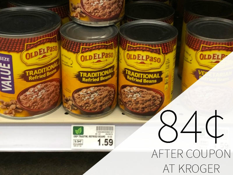 New Old El Paso Coupon - Refried Beans As Low As 84¢ At Kroger