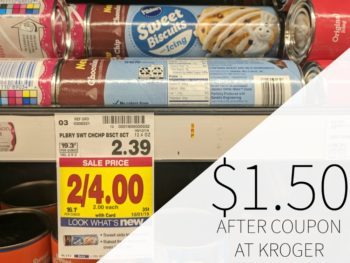 Pillsbury Sweet Biscuits with Icing Just $1.50 At Kroger