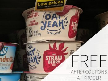FREE Silk Oat Yeah Dairy Free Yogurt At Kroger