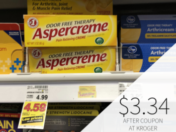Aspercreme Just $3.34 At Kroger
