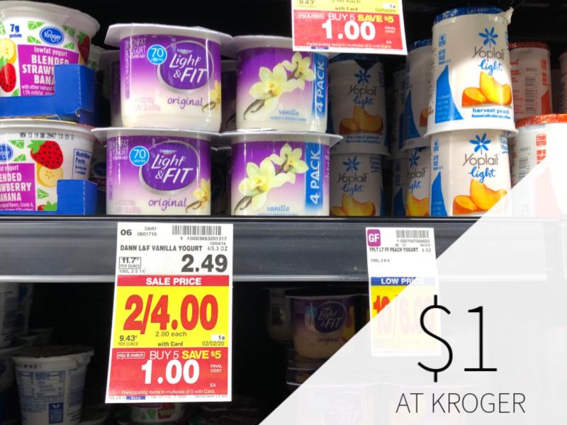 Dannon Light & Fit Yogurt Just $1 During Kroger Mega Sale