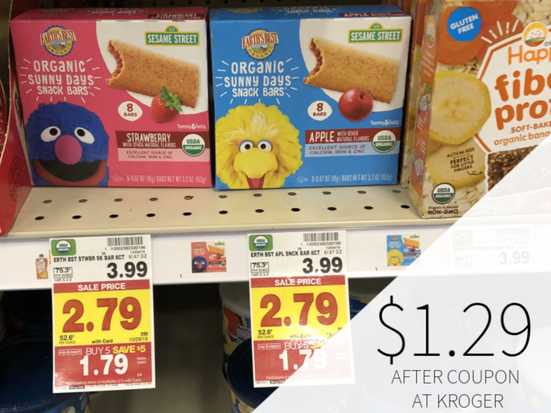 Earth's Best Snack Bars Just $1.29 At Kroger