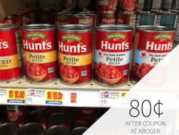 Hunt's Canned Tomatoes Just 80¢ At Kroger