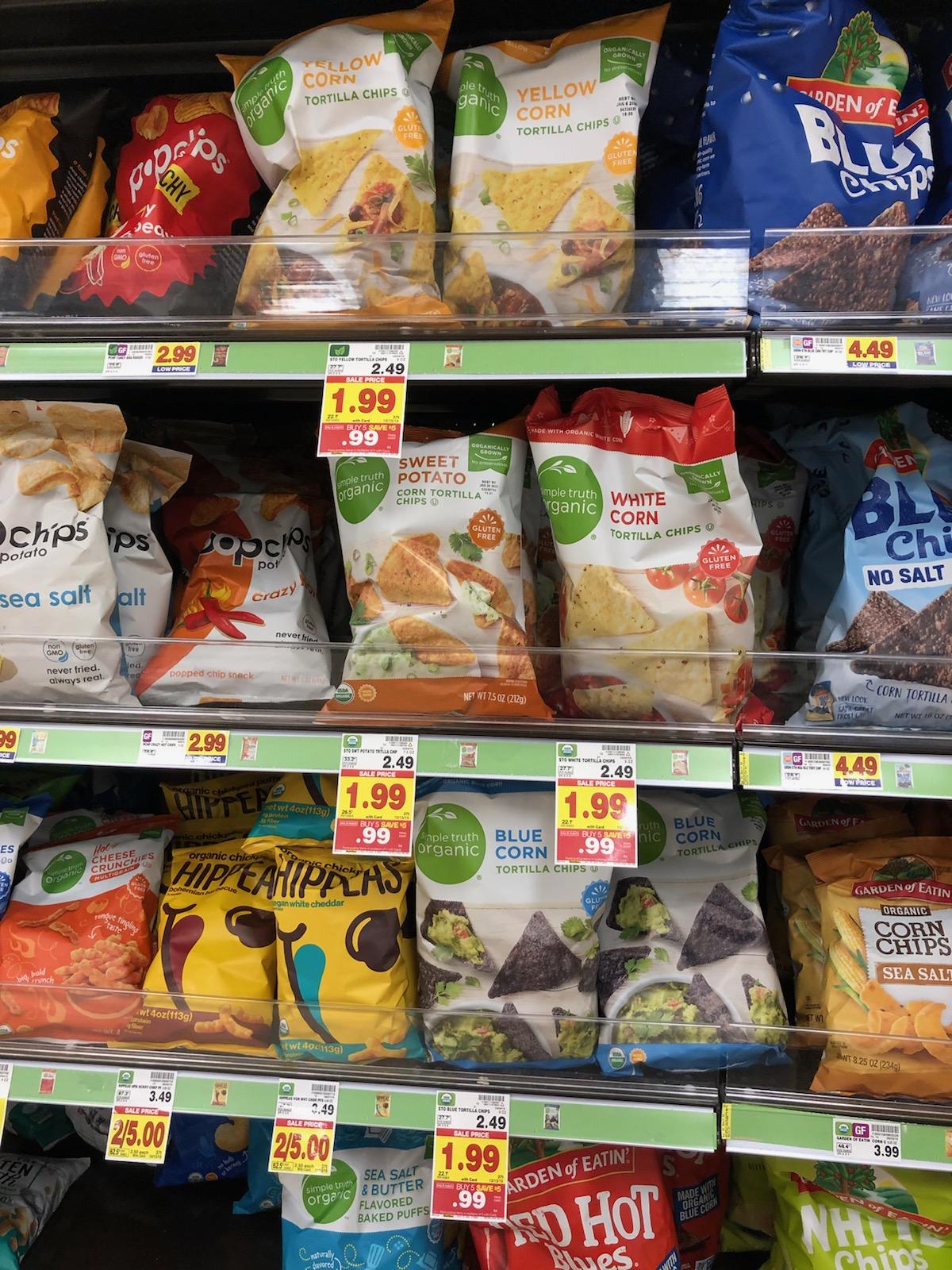 Simple Truth Chips - 99¢ During The Kroger Mega Sale 1