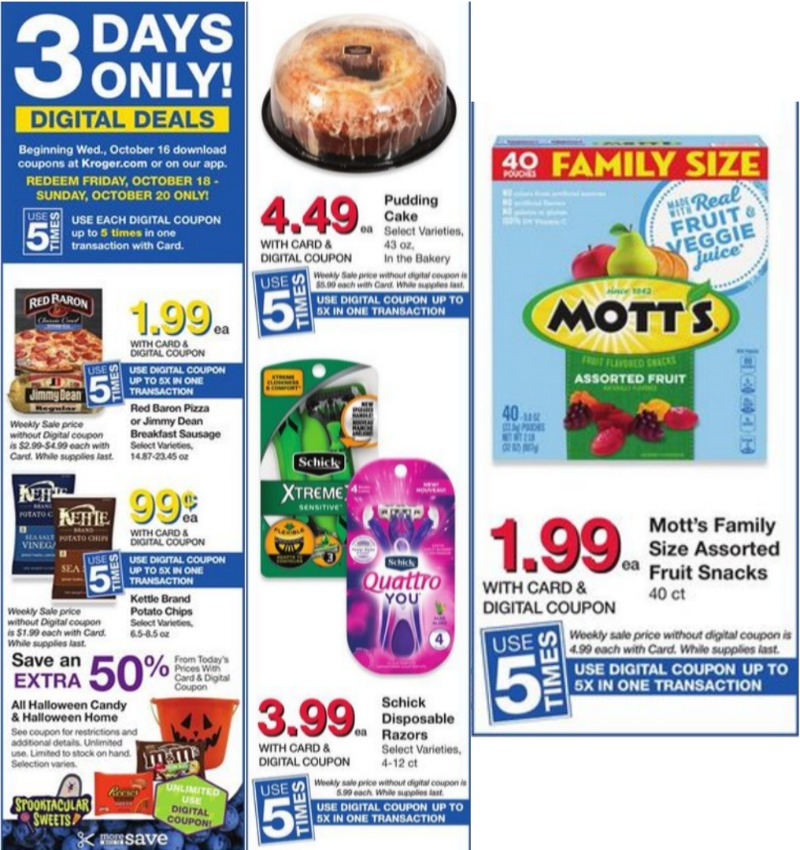 Load Your Coupons For The 2 Days Of Digital Deals (Valid 10/18 & 10/20)
