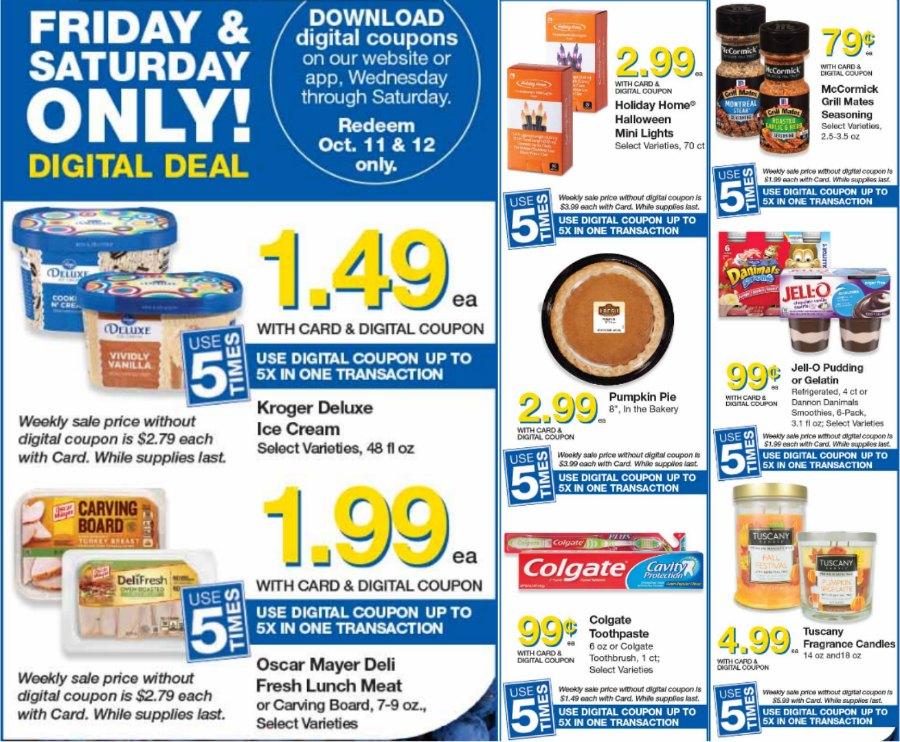 Load Your Coupons For The 2 Days Of Digital Deals (Valid 10/11 & 10/12) 1