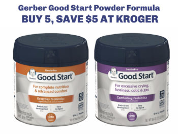 Fantastic Savings On GerberGood Start Formula At Kroger - Buy One Get One FREE!
