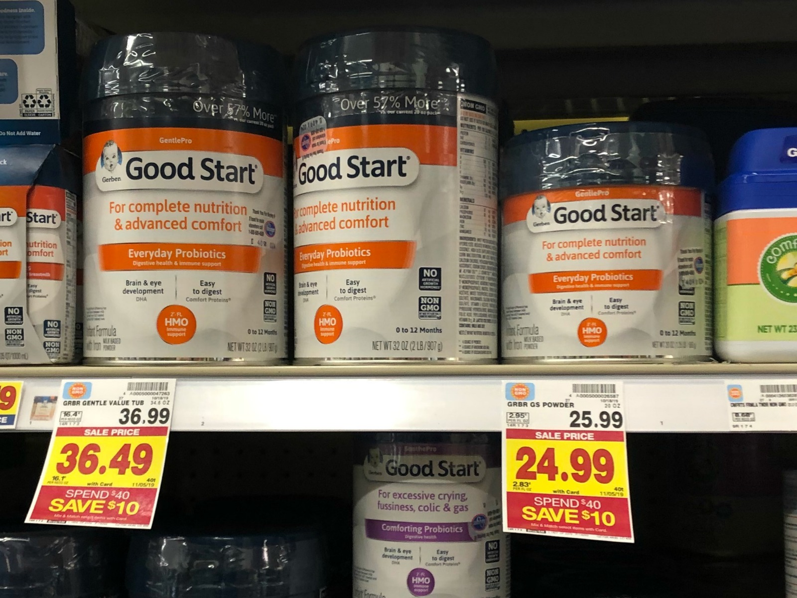 Amazing Deals On Gerber Products As Part Of The Kroger Buy $40 Save $10 Baby Aisle Promo! 1