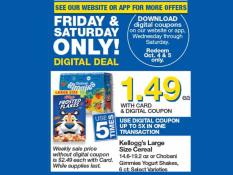 Load Your Coupons For The 2 Days Of Digital Deals (Valid 10/4 & 10/5)