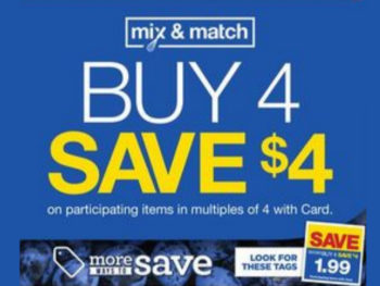 Kroger What A Deal! Buy 4, Save $4 Mega Sale Full Inclusion List (Valid 10/23 - 10/29)