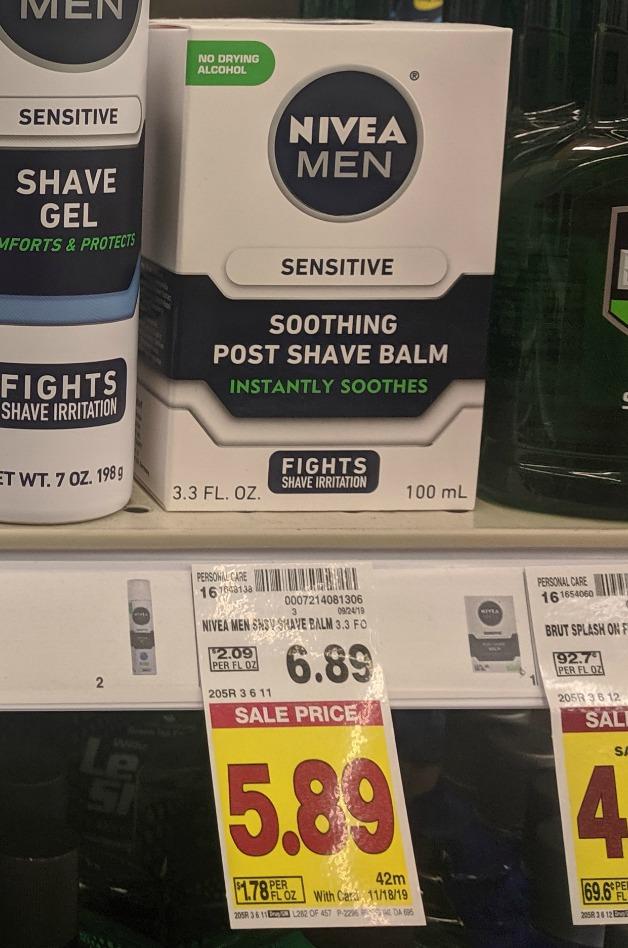 Nivea Men Post Shave Balm As Low As $3.89 At Kroger