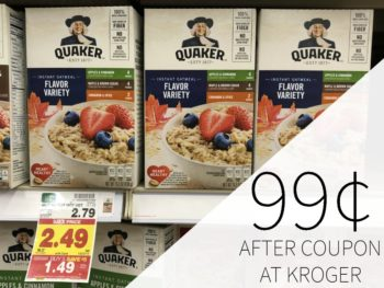 Quaker Instant Oatmeal Cups Just 82¢ Per Cup At Kroger 1