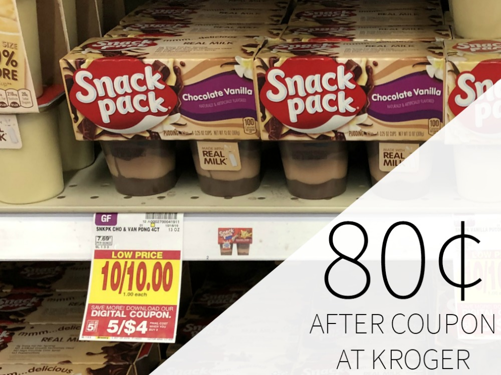 Snack Pack 4 Count Pudding Packs Just 80 At Kroger