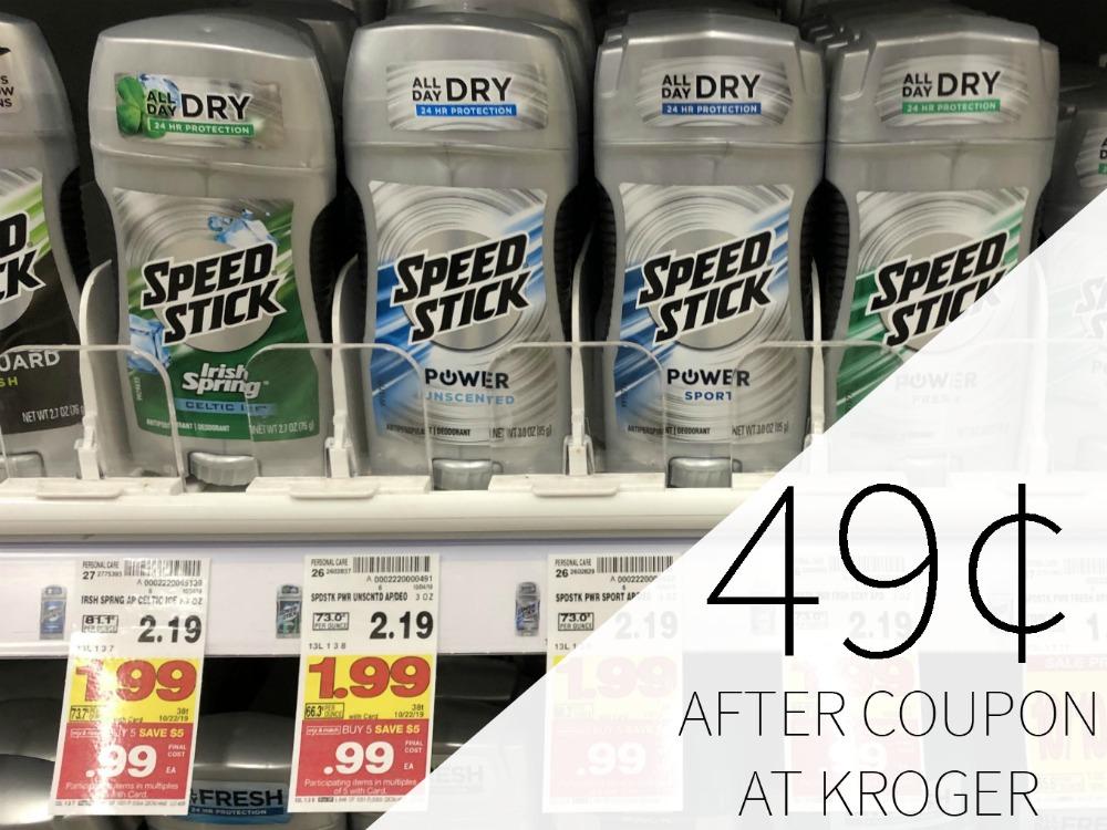 Men's Speed Stick Deodorant Just 49¢ During The Kroger Mega Sale