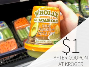 Wholly Guacamole Snack Cups Just $1 At Kroger