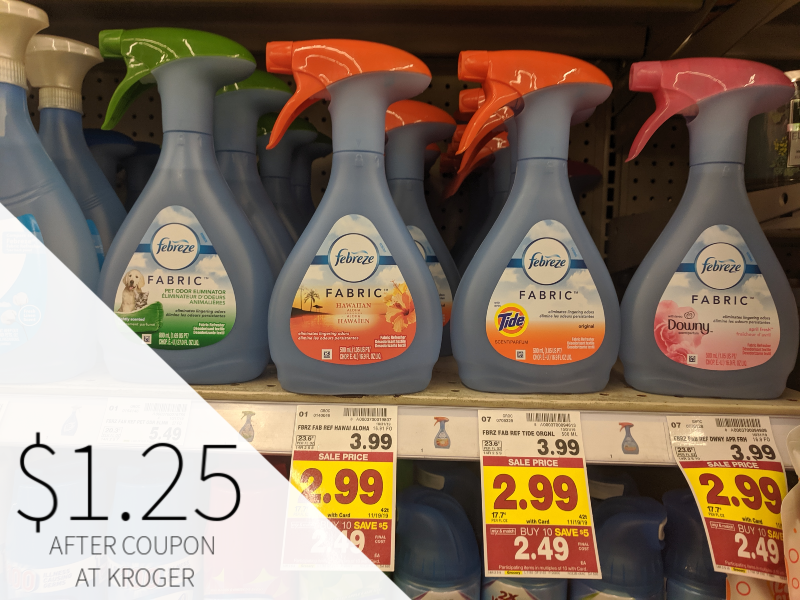 Febreeze Products Just $1.25 At Kroger 1