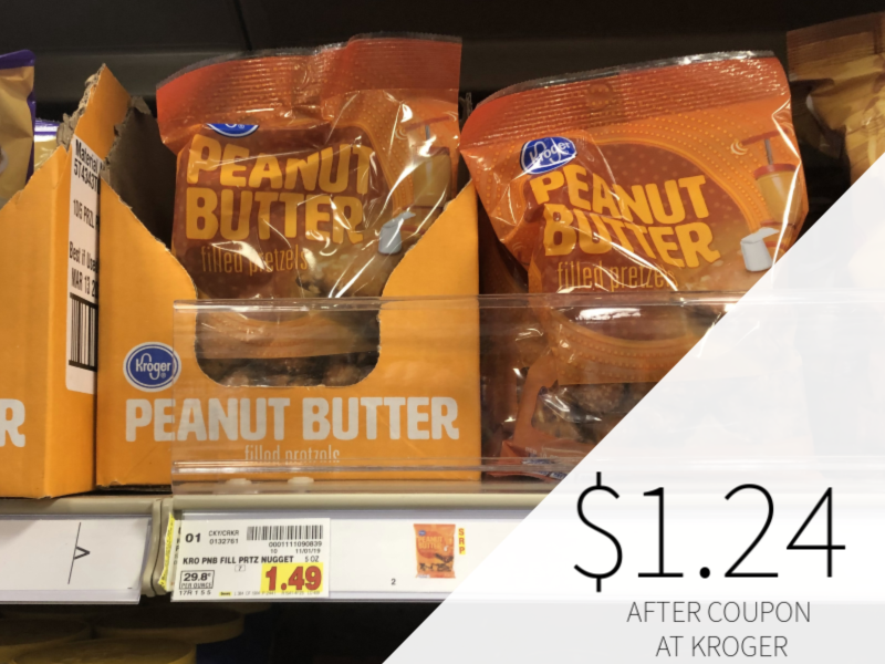 Kroger Peanut Butter Filled Pretzel Nuggets Just $1.24 At Kroger
