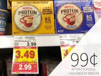 Krusteaz Protein Muffin Mix Just 99¢ At Kroger