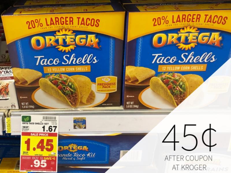 Ortega Taco Shells Just 45 Per Box At Kroger