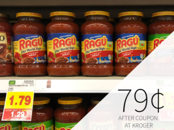 Ragu Pasta Sauce Only 79¢ At Kroger 1
