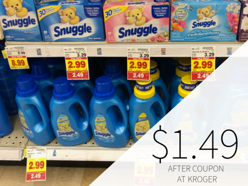 Snuggle Products Just $1.49 At Kroger