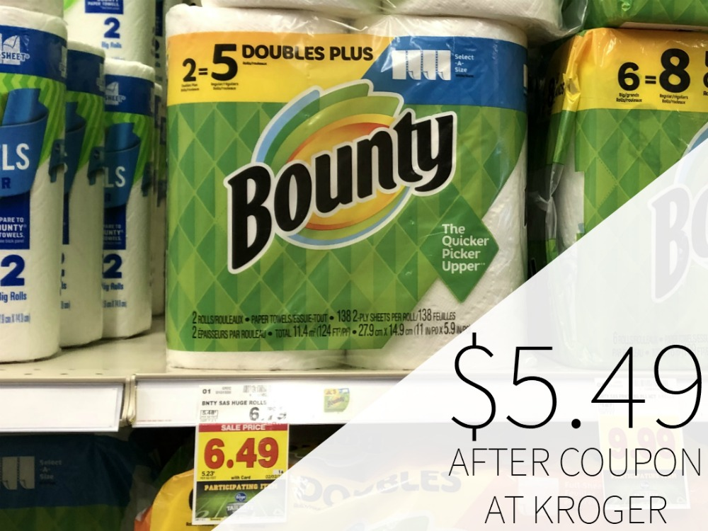 Bounty Paper Towels As Low As .49 At Kroger